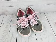 Girls Gray Pink  Mickey Mouse Shoes Sneakers Disney Parks SZ 6  Disneyland