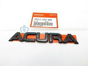 Acura RSX TL TSX RL Carbon Fiber Emblem Badge Genuine OEM Rear Trunk Nameplate
