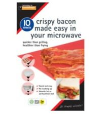 Crispy Bacon Sheets Pack10 Toastabags NEW Bacon Made Easy In Your Microwave