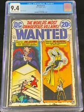 Wanted #7 CGC 9.4 1973 Dr. Clever Dr. Glisten Nick Cardy Cover A153
