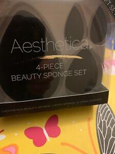 Aesthetica 4 PC Beauty Sponge Blender Set BNIB Sealed- Free shipping