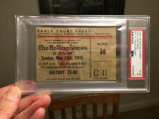 1976 Rolling Stones Concert Ticket Earls Court London PSA Jagger Richards