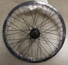 "BLACK 20"" bmx bike REAR wheel 14mm AXLE & 3/8"" AXLE SLOTTED 9t DRIVER FITS NEW"
