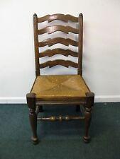 Ethan Allen Royal Charter Oak Ladder Back Side Chair With Fiber Seat
