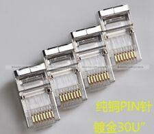 20PCS Cat6/Cat6a/Cat7 RJ45 8P8C Modular Plugs Shielded version AWG23 0.57mm S2