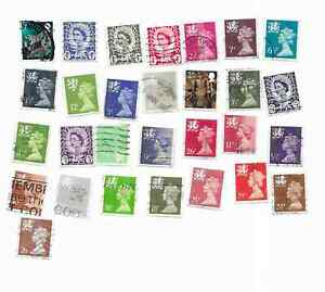 29 used Great Britain  Wales  Postage Stamps