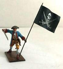 St. Petersburg. Amber. Pirate Officer with Flag. 54 mm