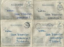 Sweden 8 used military covers 1945, also a cover from Island, scarce group.