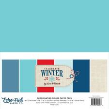 Scrapbooking Crafts 12X12 Paper Pack Ep Celebrate Winter Solids Blue Red White