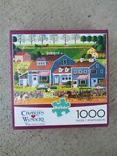 1000 piece Buffalo puzzle Charles Wysocki prairie wind flowers used games hobby