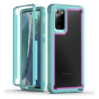 For Samsung Galaxy Note 20 ultra 5G Rugged Armor Case Clear Frame Bumper Cover