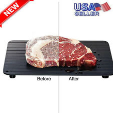 Fast Defrosting Tray Kitchen The Safest Way to Defrost Meat Or Frozen Food USA