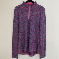 ideology top large Womens Long Sleeve Pullover 1/4 Zip Lightweight Jacket Active