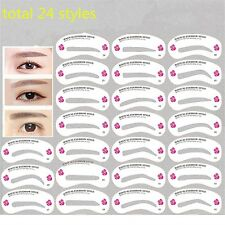 24 PCS Reusable Eyebrow Stencil Eye Brow Drawing Guide Styling Shaping Card Kit