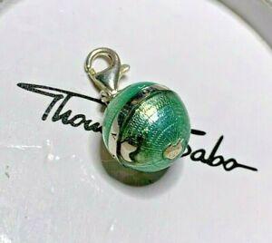 Thomas Sabo Charm Globus Erde Planet Weltkugel türkis Emaille guter Zustand OVP