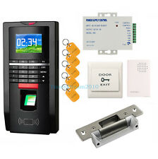 Door Home Entry Access Control Fingerprint &RFID System Kit Set with Strike lock