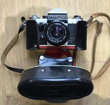 Praktica Super TL Vintage 35mm SLR Film Camera, Case, Spare Lens & Flash Gun