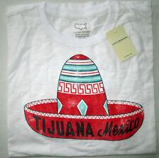NWT LUCKY BRAND Tijuana Sombrero Short Sleeve Graphic Bright White T Shirt XXL