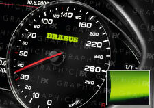 x8 Mercedes Brabus AMG Logo Glow in the Dark Interior Speedo Decals Luminescent