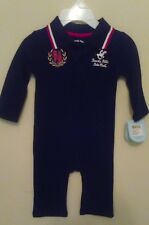 New Beverly Hills Polo Club Infant Romper Classic Black  Size 3-6 Months (NWT)