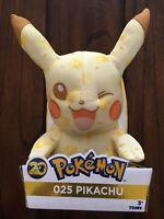 "2016 TOMY Pikachu Winking 10"" Plush Pokemon 20th Anniversary Toy Figure"
