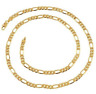 "22K Yellow Gold GP 20"" Inch Figaro Chain Link 5mm Necklace N106"