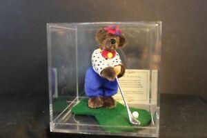 """Artist Bear - FORE - 4"""" Golfing Bear by Sherri Dodson - #745 - LE - COA"""