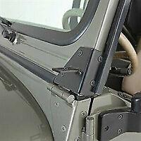 Rampage Windshield Hinge Light Brackets 97-06 Jeep Wrangler TJ LJ 7608 Black