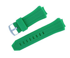 New Green Silicone Rubber Watch Band Strap For TECHNOMARINE