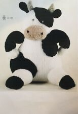 """Knitting Pattern For  Toy Animal Cow,  approx 10"""" In Height"""