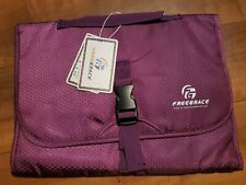 FreeGrace Hanging Toiletry Travel Bag - Cosmetic, Jewelry, Toiletry & Purple