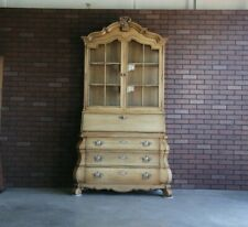 Secretary Desk ~ Desk ~ French Provincial Secretary Desk ~ Display Cabinet
