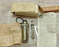 Vtg Soviet Medical Military Sterilizer Field EDC Survival + Syringe 2ml USSR NOS