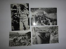 Collection Of 4 Vintage War Photos And Postcards of VC At Various Locations