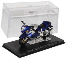 Suzuki Gsx-R 1300 Hayabusa Blue Silver 1/24 Modellcarsonline Model Motorcycle