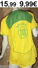 BRASILIEN TRIKOT  FUßBALL WM BRAZIL 10 KINDER 128 - 134 BRASIL FUßBALLTRIKOT NEU