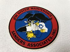 Navy Defense Contractor Decal Sticker Sanders AN/USM-406 EW Systems Maintenance