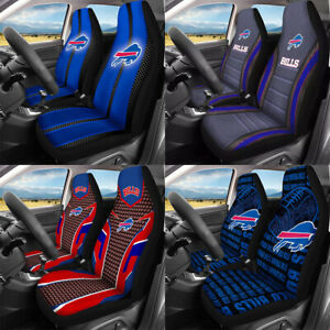 Set of Two Buffalo Bills Car Seat Covers Universal Auto Front Cushion Protectors