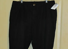Womens Added Dimensions Black Subtle Leopard Shimmer 20W Nwt Stretch Jeans Soft!