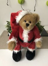 Vintage Christmas Teddy Bear Jointed Moveable Bear Brown and Red hair 32cm Tall