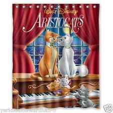 """The Aristocats Poster Movie Polyester Shower Curtains 60""""x72"""" Inch"""