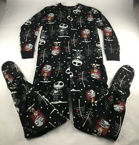 Disney-Tim Burton's The Nightmare Before Christmas 1 Piece Pajama Womans LARGE