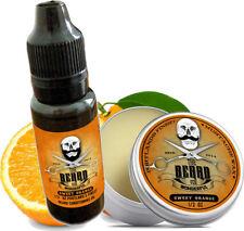 Sweet Orange Moustache Wax & Conditioning Beard Oil Set Portlands Finest