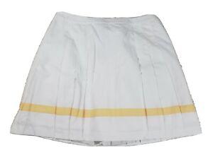 Izod Womens Golf Skirt NEW Size 14 White Xtra Dry 100% Polyester