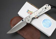 New CNC D2 Blade Sebenza 21 Style Full TC4 TITANIUM Handle Folding knife DF26