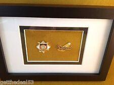 Framed - National League Baseball & Los Angeles  Dodgers  - 2 set medallion
