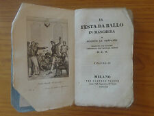 Lotto 4 VOLUMI LA FESTA DA BALLO IN MASCHERA 1830 LA FONTAINE 14 x 8 cm  libro