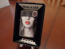 PINUP GIRL RED LIPSTICK ZIPPO LIGHTER MINT IN BOX
