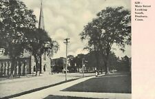Danbury,Connecticut,Main Street Looking South,Fairfield County,c.1909