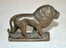 Old Antique Indian Brass Hand Carved Home Decorative Lion Statue